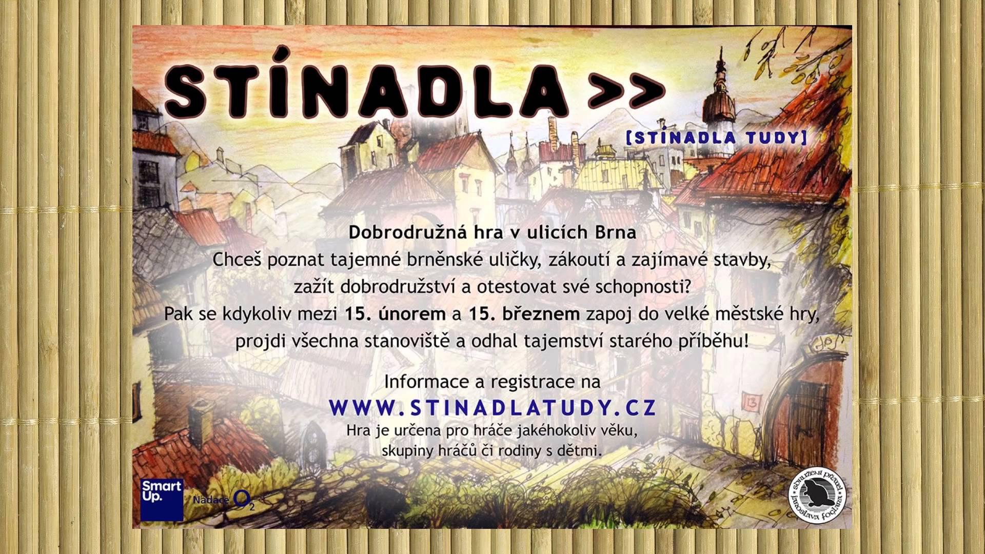 Stínadla tudy - dobrodružná hra v Brně